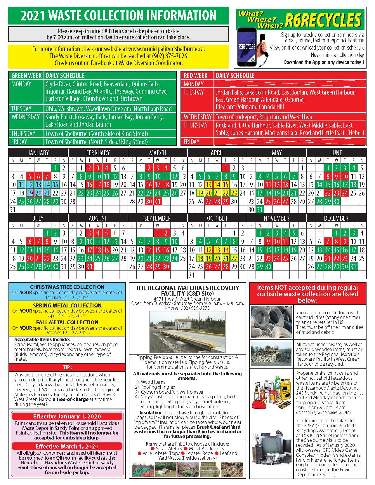 Trash Pickup Schedule Christmas 2021 Waste Collection Municipal Services